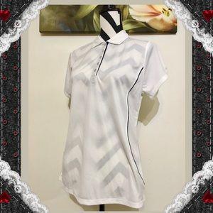 Champion Semi Fitted White Golf Shirt